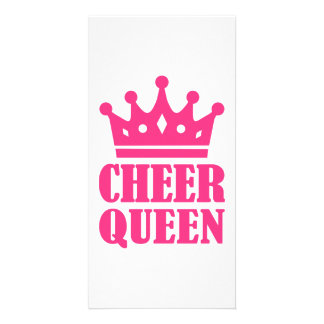 Cheer queen champion photo card template