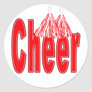 Cheer Red Stickers