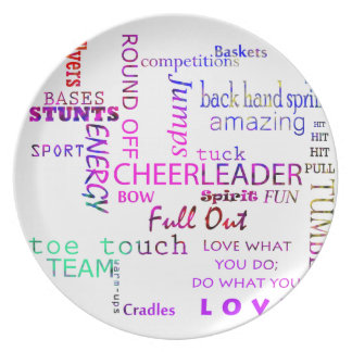 Cheer Spirit Plate