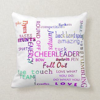 Cheer Square Throw Pillow