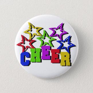 Cheer Stars 6 Cm Round Badge