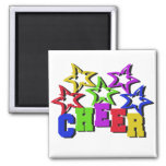 Cheer Stars Square Magnet