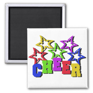 Cheer Stars Square Magnet