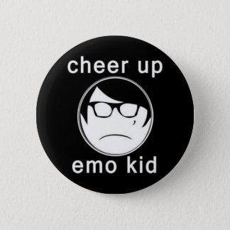Cheer up emo kid 6 cm round badge