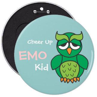 Cheer Up Emo Kid Owl Pins