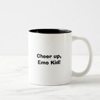 Cheer up, Emo Kid! Two-Tone Coffee Mug