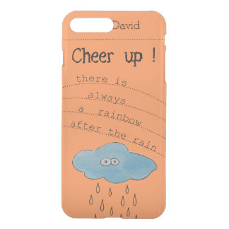 Cheer up!Funny Watercolor Cloud Personalized Name iPhone 8 Plus/7 Plus Case