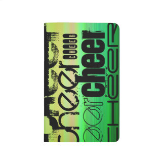 Cheer; Vibrant Green, Orange, & Yellow Journals