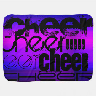 Cheer; Vibrant Violet Blue and Magenta Receiving Blankets