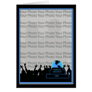 Cheer Worlds Greatest Dad Award Photo Frame Card 2