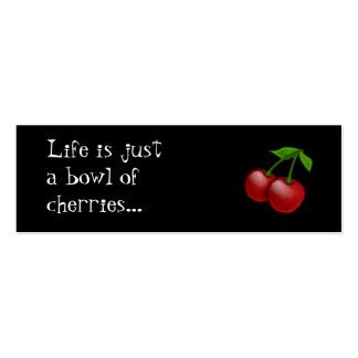 Cheerbomb MiniCard Bowl of Cherries Business Cards
