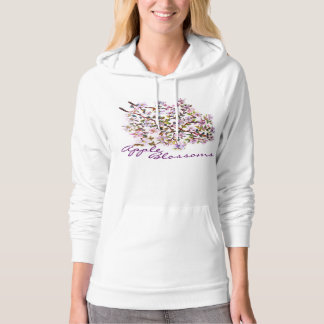 Cheerful Apple Blossom Flowers Acrylic Painting Pullover