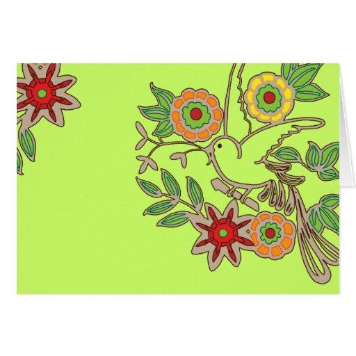 Cheerful Bird Card