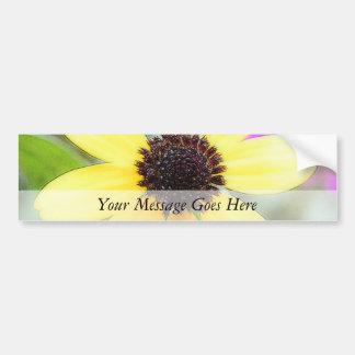 Cheerful Black Eyed Susan Bumper Sticker