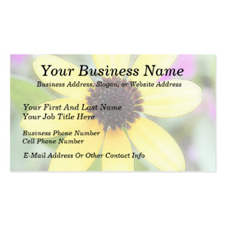 Cheerful Black Eyed Susan Business Card Template