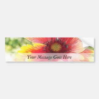 Cheerful Blanket Flower Bloom Car Bumper Sticker