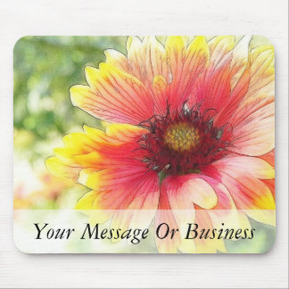 Cheerful Blanket Flower Bloom Mouse Pad