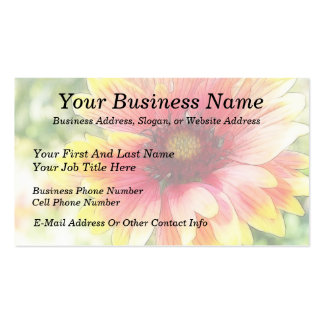 Cheerful Blanket Flower Bloom Pack Of Standard Business Cards