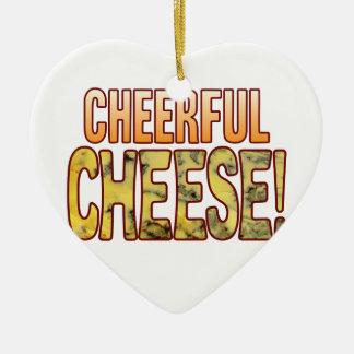 Cheerful Blue Cheese Christmas Ornament