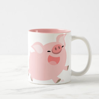 Cheerful Cartoon Pig custom mug
