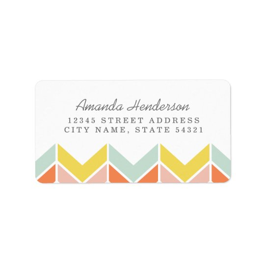 Cheerful Chevron Address Label