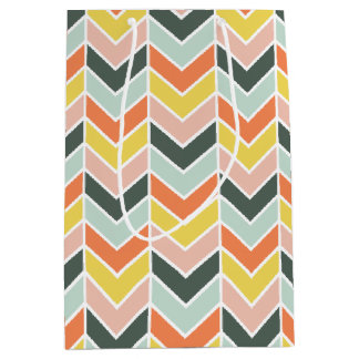 Cheerful Chevron by Origami Prints Medium Gift Bag