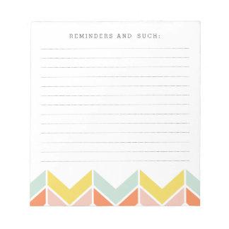 Cheerful Chevron Notepad