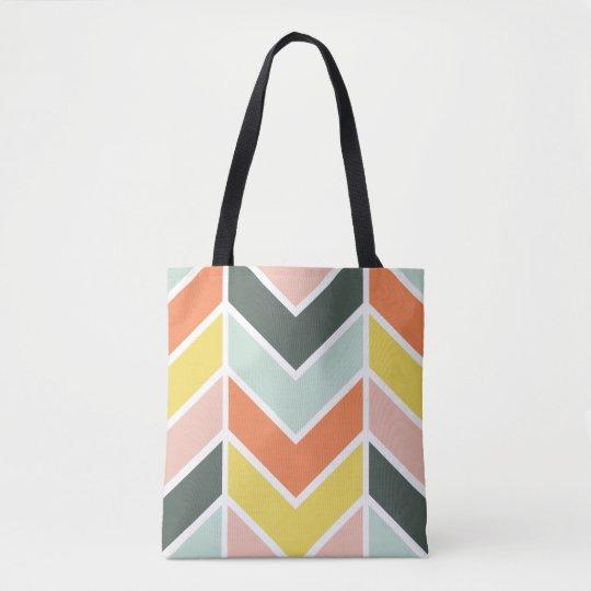 Cheerful Chevron Tote Bag