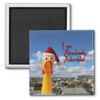 Cheerful Chicken Magnet! Square Magnet