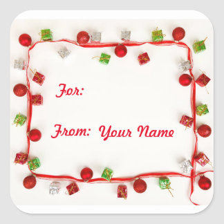Cheerful Christmas Gift Tag