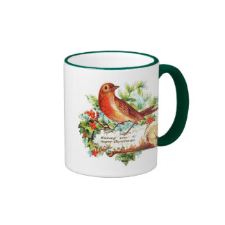 Cheerful Christmas Greetings Coffee Mugs