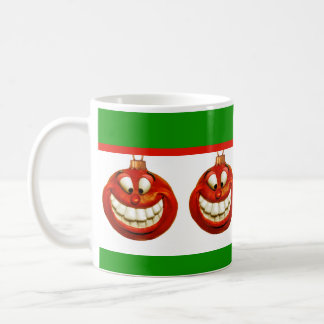 Cheerful Christmas Ornament Basic White Mug