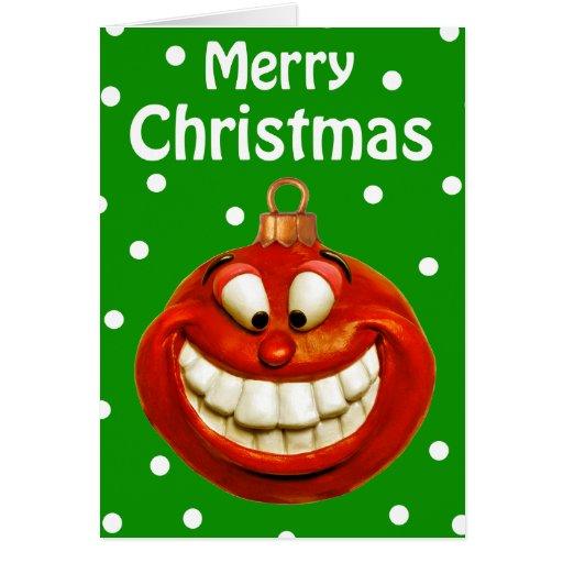 Cheerful Christmas Ornament Greeting Card