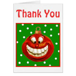 Cheerful Christmas Ornament Note Card
