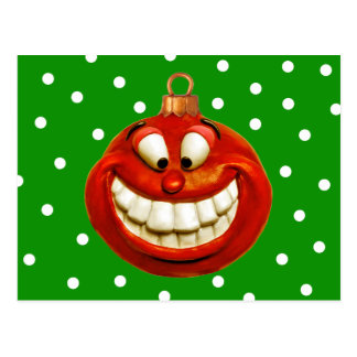 Cheerful Christmas Ornament Postcards