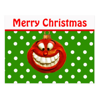 Cheerful Christmas Ornament Post Cards