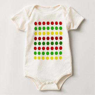 Cheerful Christmas Polka Dot Stripes Baby Bodysuit