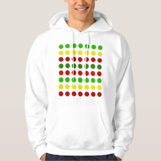Cheerful Christmas Polka Dot Stripes Hoodie