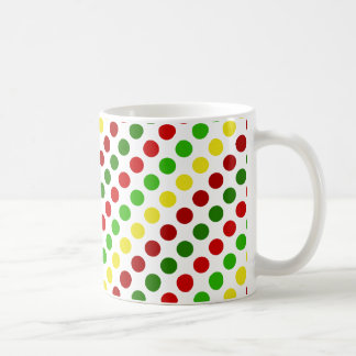 Cheerful Christmas Polka Dot Stripes Coffee Mugs
