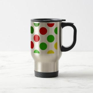Cheerful Christmas Polka Dot Stripes Stainless Steel Travel Mug