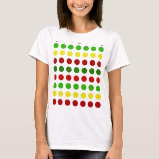 Cheerful Christmas Polka Dot Stripes T-Shirt