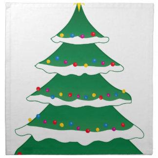 Cheerful Christmas Xmas Holiday Family Tree Napkin