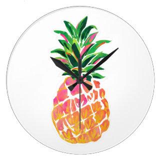 Cheerful Clock Pineapple Decor