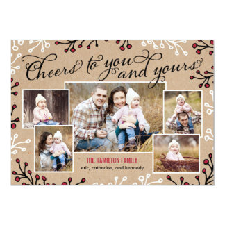 Cheerful Collage Holiday Photo Card Invitation