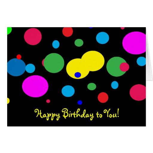 Cheerful Color Circles Birthday Greeting Card