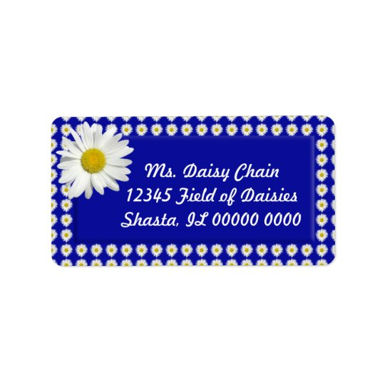 Cheerful Daisy Address Labels