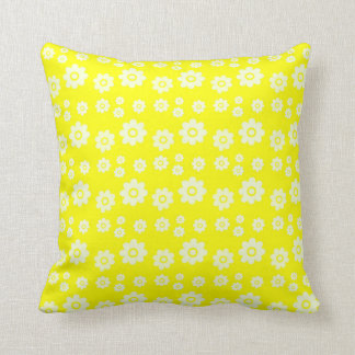 cheerful floral throw pillow
