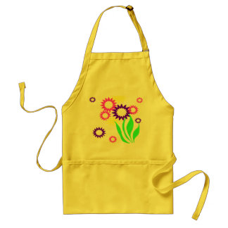 Cheerful Flowers Adult Apron