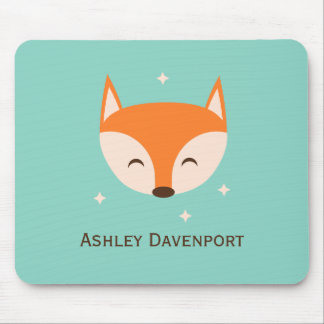Cheerful Fox Mouse Mat