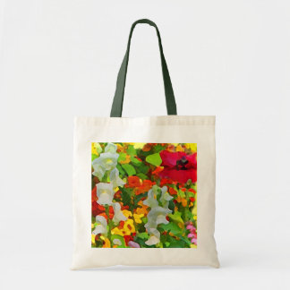 Cheerful Garden Abstract Budget Tote Bag